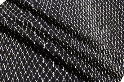 画像3: ■黒地 粋でオシャレな 網目模様 地紋 正絹 小紋■