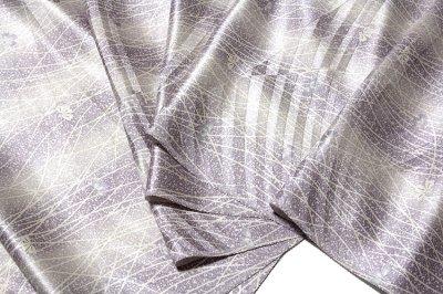 画像2: ■「キングサイズ-単衣にも」 日本の絹 丹後紋綸子ちりめん生地使用 正絹 小紋■