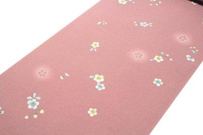 画像1: ■桜ボカシ染め 上品な 高級ちりめん生地使用 オシャレ 正絹 小紋■