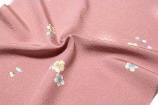 画像4: ■桜ボカシ染め 上品な 高級ちりめん生地使用 オシャレ 正絹 小紋■ (4)