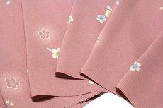 画像3: ■桜ボカシ染め 上品な 高級ちりめん生地使用 オシャレ 正絹 小紋■ (3)