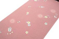 画像2: ■桜ボカシ染め 上品な 高級ちりめん生地使用 オシャレ 正絹 小紋■ (2)