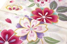 画像3: ■「最高級-振袖用」 桜柄 白色系 小松ちりめん 日本製 正絹 長襦袢■ (3)