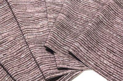 画像2: ■【訳あり】粋な縞柄 江戸鼠色 高級ちりめん使用 オシャレ 正絹 小紋■