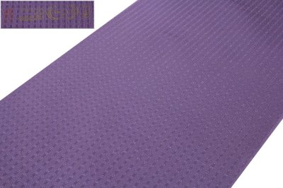 画像1: ■「日本の絹:丹後ちりめん生地使用」 別誂え 深紫色系 地紋 正絹 色無地■