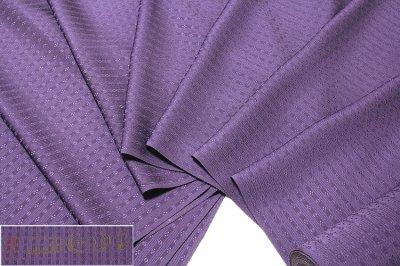 画像2: ■「日本の絹:丹後ちりめん生地使用」 別誂え 深紫色系 地紋 正絹 色無地■
