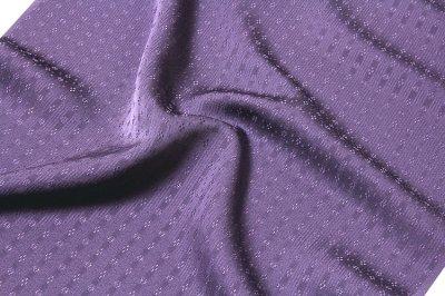 画像3: ■「日本の絹:丹後ちりめん生地使用」 別誂え 深紫色系 地紋 正絹 色無地■