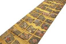 画像2: ■「格天花鳥絵文」 金色系 華やかで煌びやかな 全通柄 正絹 袋帯■ (2)