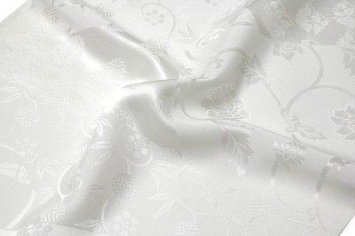 画像3: ■「日本の絹:丹後ちりめん生地使用」 唐花文様 日本の美-京浪漫 SUNSILK 白地 礼装用 正絹 高級 長襦袢■