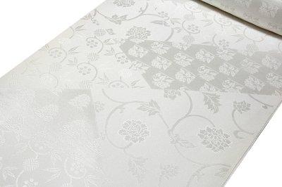画像2: ■「日本の絹:丹後ちりめん生地使用」 唐花文様 日本の美-京浪漫 SUNSILK 白地 礼装用 正絹 高級 長襦袢■