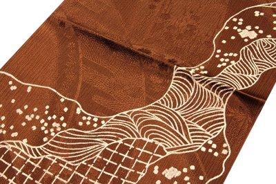 画像1: ■「正絹」 焦茶色系 オシャレ 帯揚げ 丸組 帯締め セット■