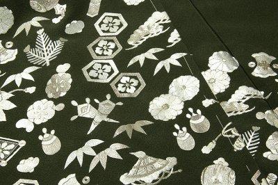 画像3: ■【訳あり】「中国伝統工芸:蘇州刺繍」 銀彩加工 宝尽くし 正絹 色留袖■