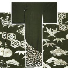 画像2: ■【訳あり】「中国伝統工芸:蘇州刺繍」 銀彩加工 宝尽くし 正絹 色留袖■ (2)