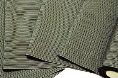 画像2: ■「特撰:仕舞平」 縞柄 麹塵色系 上質で高級な 男物 反物 正絹 袴■