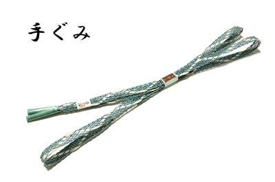 画像2: ■「正絹 夏物 絽」 涼しげな 地模様 帯揚げ 手組紐 平組 帯締め セット■