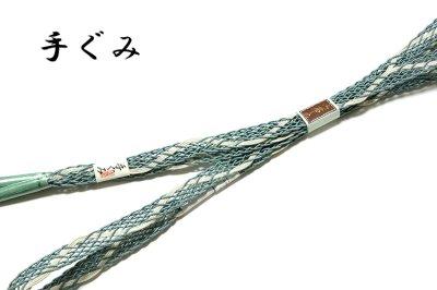 画像3: ■「正絹 夏物 絽」 涼しげな 地模様 帯揚げ 手組紐 平組 帯締め セット■