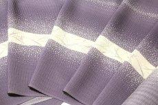 画像3: ■大小あられ柄 涼しげな 鳩羽色系 オシャレ 夏物 絽 反物 正絹 小紋■ (3)