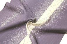 画像4: ■大小あられ柄 涼しげな 鳩羽色系 オシャレ 夏物 絽 反物 正絹 小紋■ (4)