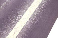画像2: ■大小あられ柄 涼しげな 鳩羽色系 オシャレ 夏物 絽 反物 正絹 小紋■ (2)