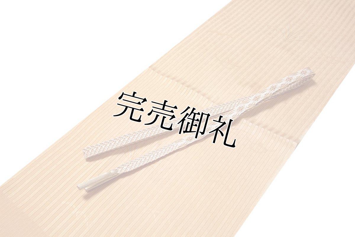 画像1: ■「正絹 夏物 縦絽」 オシャレ 雄黄色系 帯揚げ 平組 帯締め セット■ (1)
