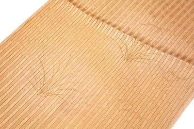 画像1: ■「正絹 夏物 縦絽」 オシャレ 雄黄色系 帯揚げ 平組 帯締め セット■