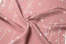 画像4: ■「高級ちりめん使用」 単衣にもおすすめ 華やかでオシャレな 反物 正絹 小紋■ (4)