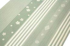 画像3: ■「高級ちりめん使用」 単衣にもおすすめ 粋な縞柄 桜模様 反物 正絹 小紋■ (3)