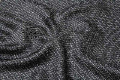 画像3: ■「京友禅-伝統工芸伊勢型写」 単衣にもおすすめ 四季の花 菱文様 黒色 反物 正絹 小紋■