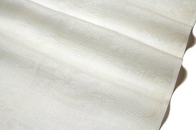 画像1: ■「スワンシルク 防カビ黄変防止加工」 【単衣 夏兼用】 白色系 市松紋紗 日本の絹 丹後ちりめん 反物 正絹 長襦袢■