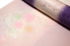 画像4: ■【訳あり】「振袖用」 振りボカシ 袖ボカシ ボカシ染め 花模様 反物 正絹 長襦袢■ (4)