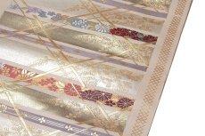 画像4: ■「京都西陣織:よこくに謹製」 煌びやかで豪華な 金糸織 正絹 九寸 名古屋帯■ (4)