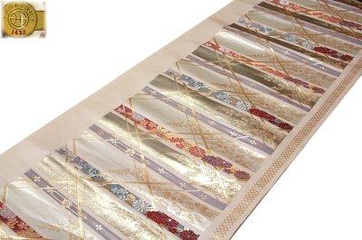 画像2: ■「京都西陣織:よこくに謹製」 煌びやかで豪華な 金糸織 正絹 九寸 名古屋帯■