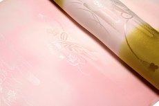 画像4: ■【訳あり】「振袖用」 振りボカシ 袖ボカシ 華やかな ボカシ染め 反物 正絹 長襦袢■ (4)