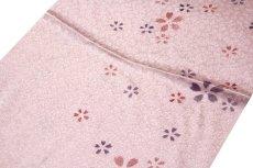 画像2: ■「正絹」 桜柄 地模様 帯揚げ 丸組 帯締め セット■ (2)