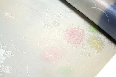 画像3: ■「振袖用」 振りボカシ 袖ボカシ 桜柄 花模様 ボカシ染め 反物 正絹 長襦袢■