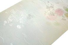 画像3: ■「振袖用」 振りボカシ 袖ボカシ 桜柄 花模様 ボカシ染め 反物 正絹 長襦袢■ (3)