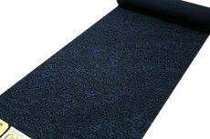画像2: ■【訳あり】「藍染:結城紬」 特選別織 深い紺鼠色 反物 正絹 紬■ (2)