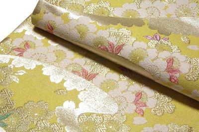 画像3: ■「京都西陣織:しらえ織物謹製」 桜花流水文 振袖 訪問着におすすめ 正絹 袋帯■