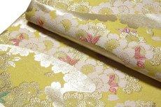 画像4: ■「京都西陣織:しらえ織物謹製」 桜花流水文 振袖 訪問着におすすめ 正絹 袋帯■ (4)