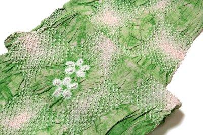 画像2: ■【絞りゆかた】 若緑色 灰桜色 贅沢で細やかな 総絞り 最高級 浴衣■