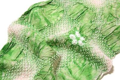 画像3: ■【絞りゆかた】 若緑色 灰桜色 贅沢で細やかな 総絞り 最高級 浴衣■