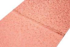 画像2: ■「正絹-高級」 煌びやかな銀通し ピンクベージュ色系 地模様 帯揚げ 丸組 帯締め セット■ (2)