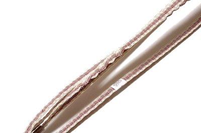 画像3: ■「正絹 夏物 変り絽」 桜色 波縞柄 トンボ柄の地模様入り 帯揚げ 平組 帯締め セット■