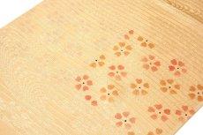 画像2: ■「正絹 夏物 絽」 可愛らしい花柄 地模様入り 帯揚げ 平組 帯締め セット■ (2)