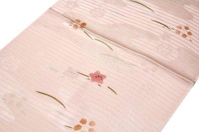 画像1: ■「正絹 夏物 絽」 花模様 地模様入り 帯揚げ 手組紐 平組 帯締め セット■