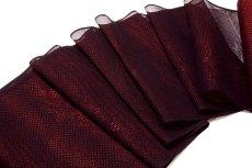 画像1: ■【訳あり】夏物 単衣兼用 羅 飛び柄 赤色 黒色 羅織コート ちりよけコート 正絹 羽尺 羽織 和装コート■ (1)