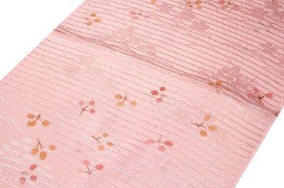 画像1: ■「正絹 夏物 絽」 華やかで可愛らしい 地模様入り 帯揚げ 平組 帯締め セット■