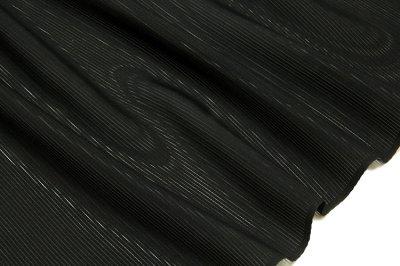 画像2: ■「五泉生地 日本の絹使用」 エフエスガード 特殊ガード加工済み 石持ち 黒色 夏物 駒絽 反物 正絹 最高級 喪服■
