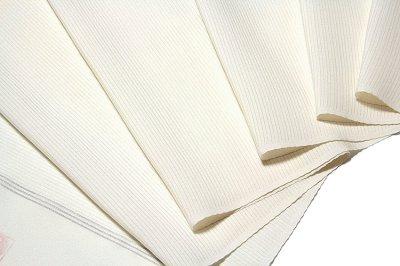 画像1: ■「お好みの色に染める-白生地」 五泉 日本の絹使用 白色 夏物 五本絽 高級 反物 正絹 色無地■