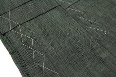 画像3: ■「仕立て上がり:特選 米沢織」 男物 味わい深い節糸 縞柄 正絹 米沢紬 馬乗袴■ (3)
